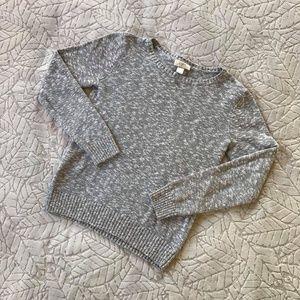 Loft Grey Knit Crewneck